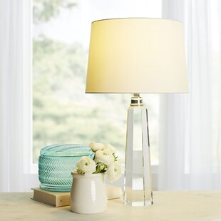 Floating crystal table lamp wayfair adelaide 58cm table lamp greentooth Images