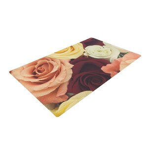 Libertad Leal Vintage Roses Red/Yellow Area Rug