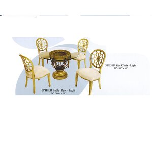 Spider 5 Piece Dining Set by Benetti&#039..