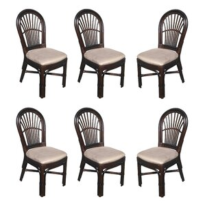 Alim Rattan Upholstered Dining Chair (Set of 6) by Astoria Grand