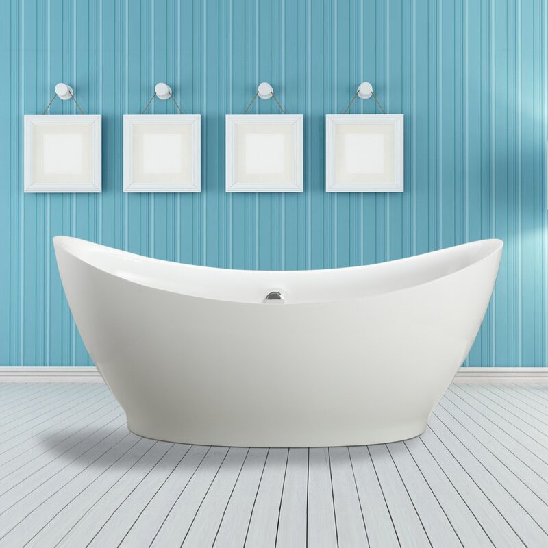 "vinnova divinity 67.5"" x 31.5"" soaking bathtub & reviews 