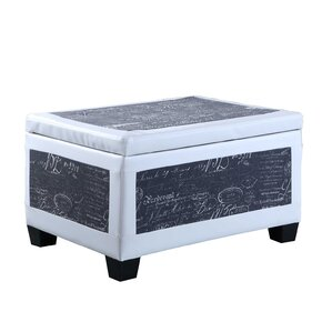 Quaniece Accent Trim Storage Ottoman by Red ..