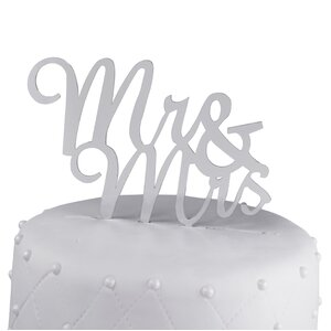 Mr. & Mrs. Acrylic Wedding Cake Topper