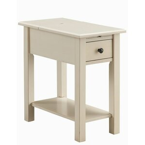 Lundgren Charging End Table With Storage
