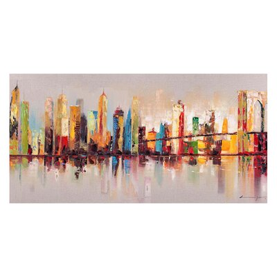 Brayden Studio 'Raw City at Large' Painting Print on Wrapped Canvas