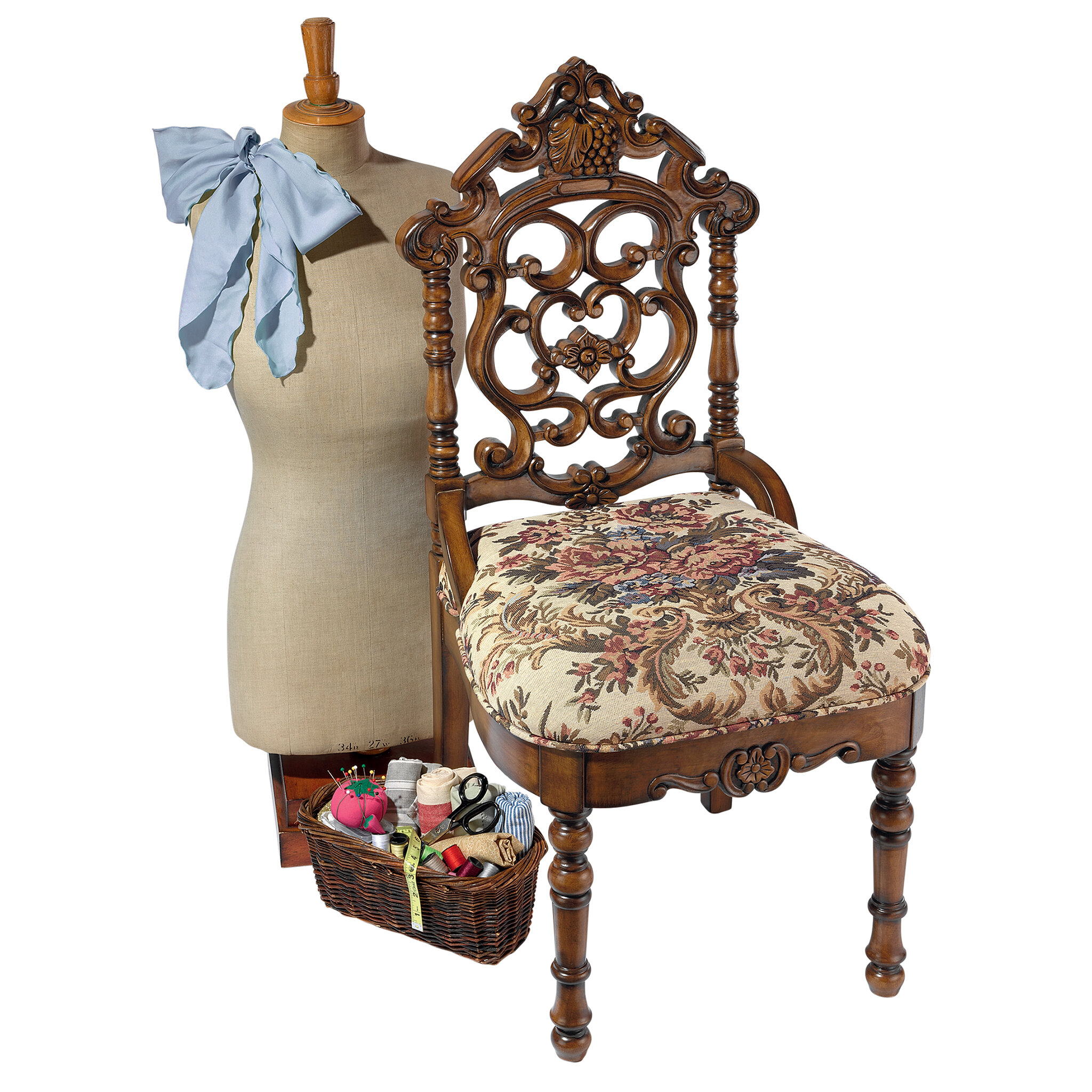 High Quality Design Toscano Victorian Sewing Side Chair | Wayfair