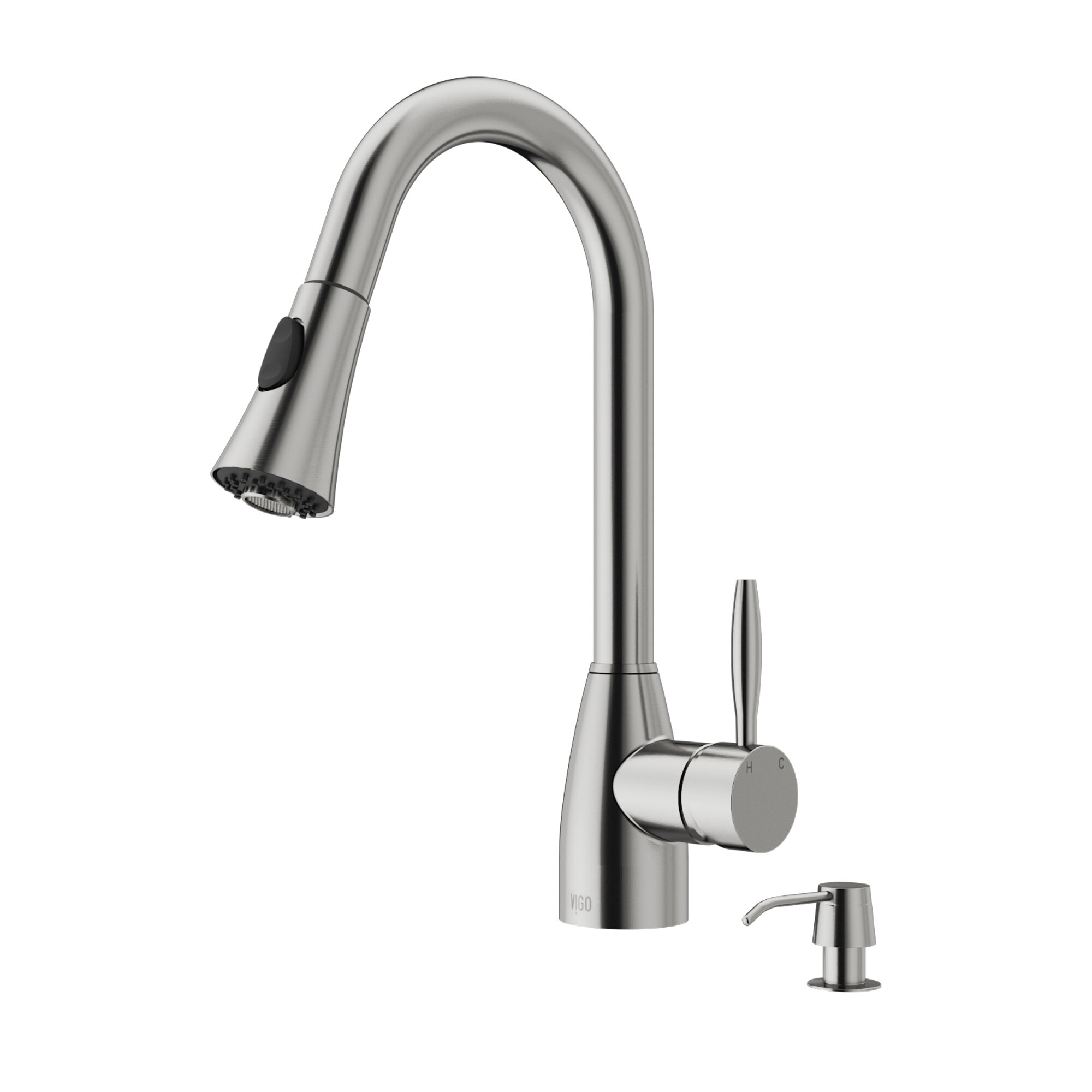 stainless kitchen faucet steel k asp handle vs lg vibrant forte single one detail kohler