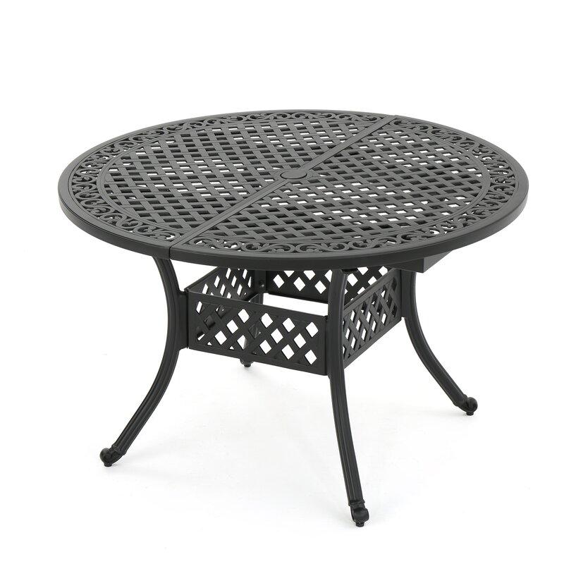 fleur de lis living brownell outdoor expandable dining table reviews. Black Bedroom Furniture Sets. Home Design Ideas