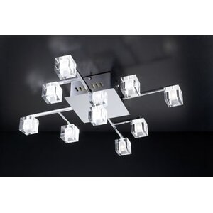D'oro 9-Light Semi Flush Mount