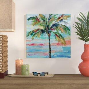 palms palm trees tropical wall art you ll love wayfair