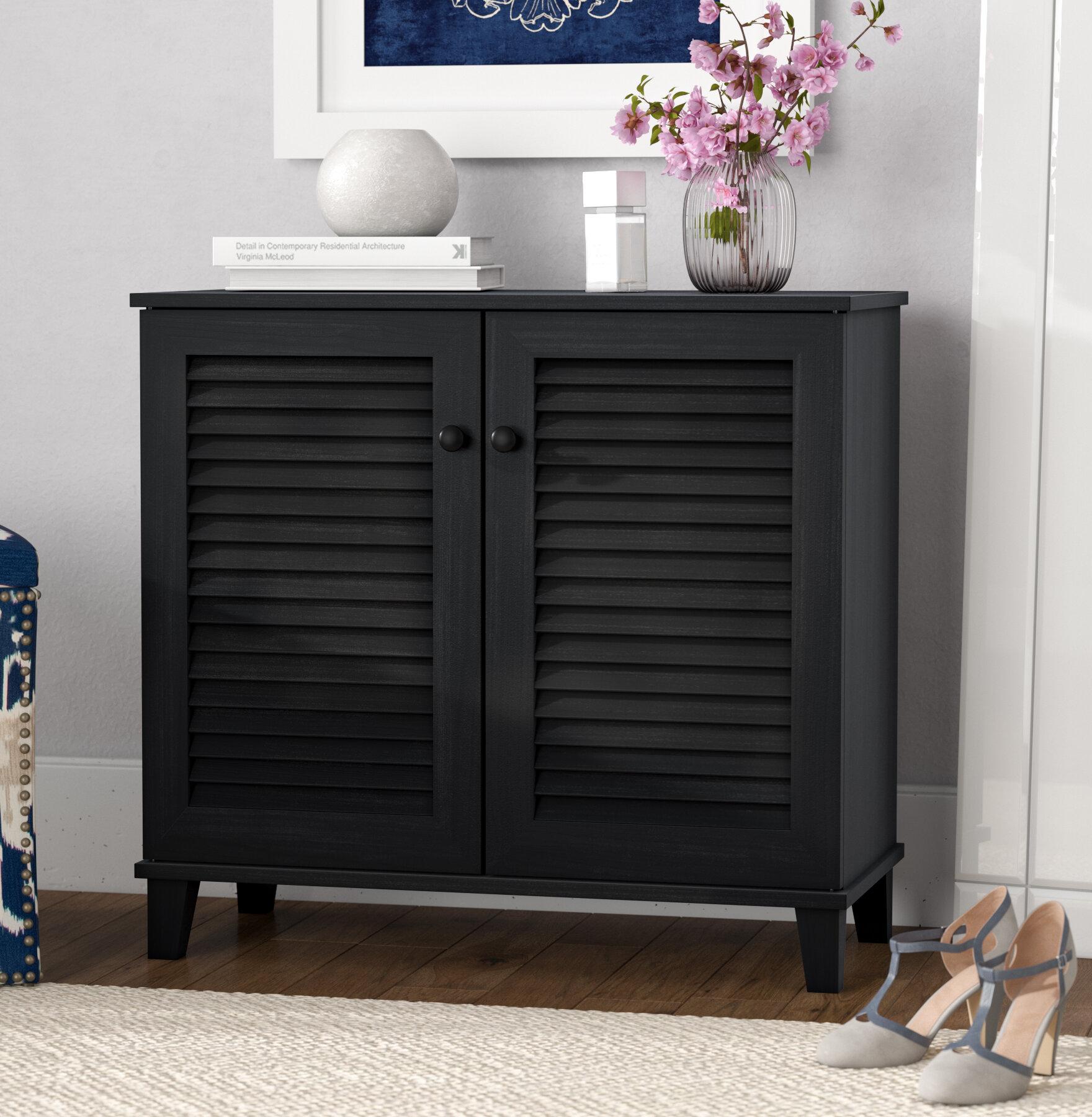 Darby Home Co Baxton Studio 14 Pair Shoe Storage Cabinet Reviews Wayfair