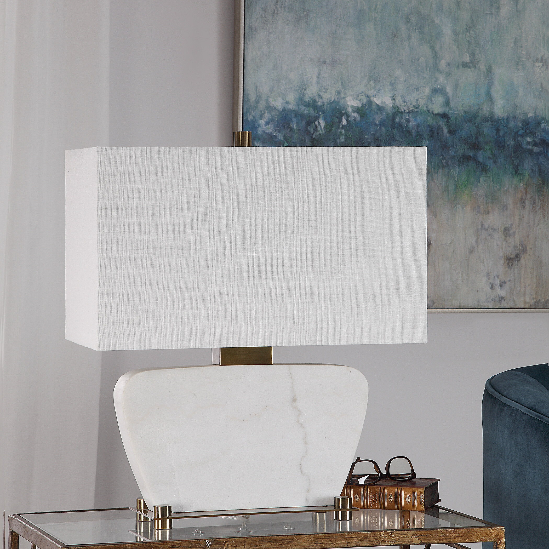 White Marble Table Lamp Wayfair