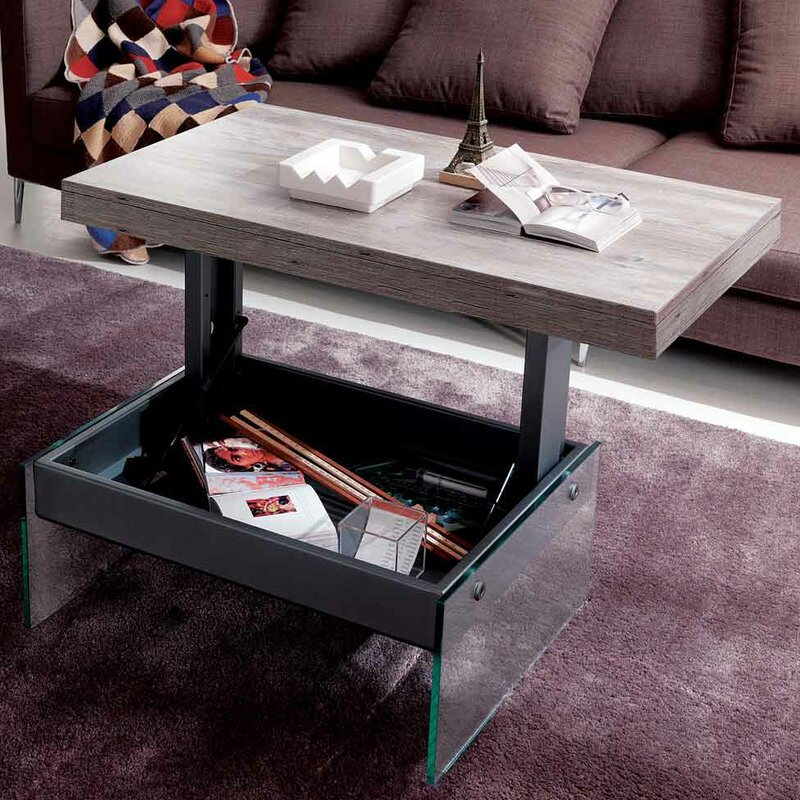 Glass Coffee Tables Next: YumanMod Logan Matt Graphite Coated Metal Structure Glass
