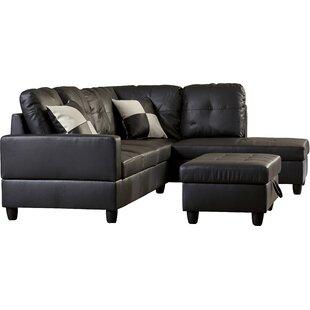 Modern Black Leather Sectionals | AllModern