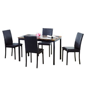 5 Piece Dining Set by Hazelwood Home