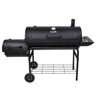American Gourmet Offset Charcoal Smoker And Grill
