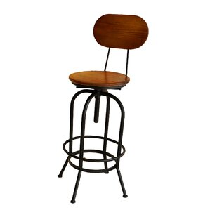 Doss Adjustable Height Swivel Bar Stool by 17 Stories