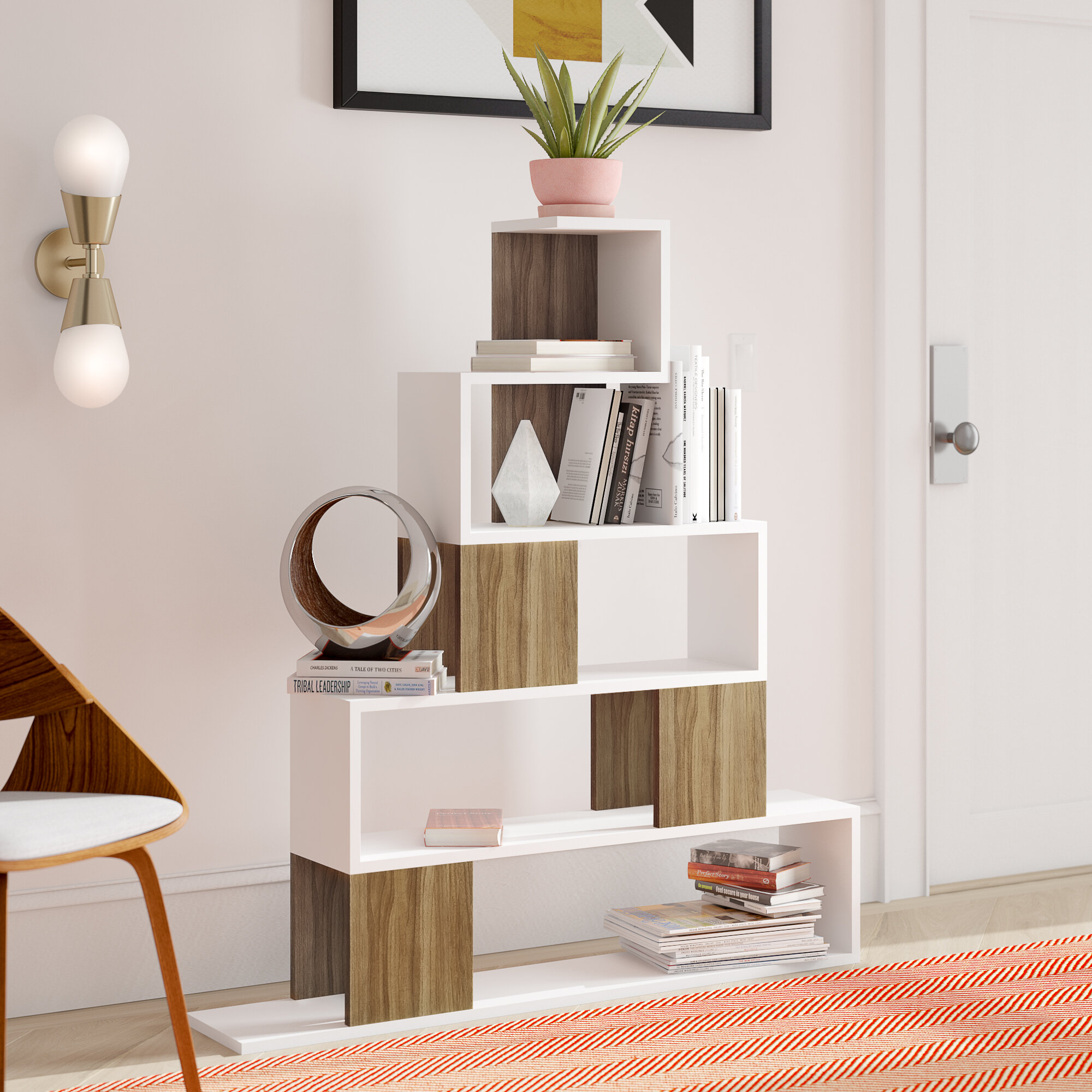 Gaudreau Modern Geometric Bookcase