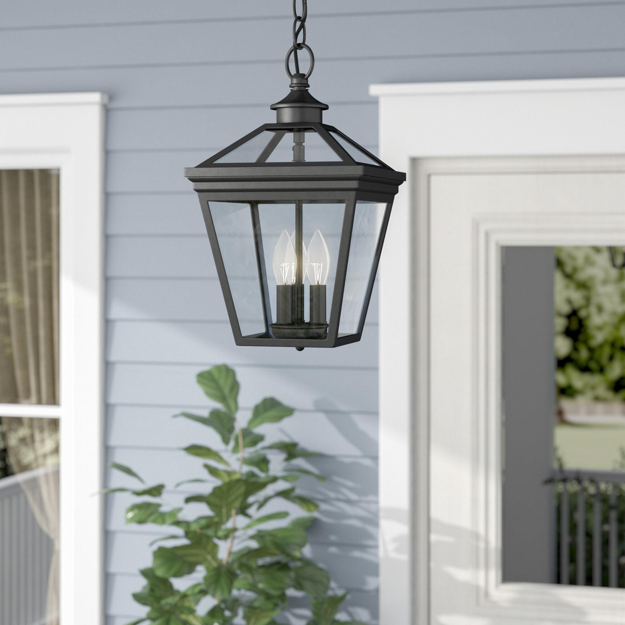 Darby Home Co Coleg 3-Light Outdoor Hanging Lantern & Reviews | Wayfair