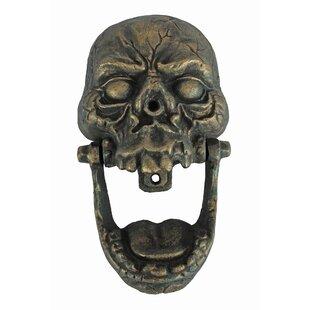 Knock Jaw Skull Cast Iron Door Knocker. By Design Toscano