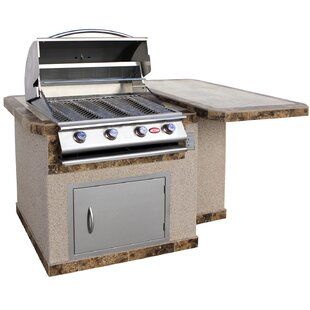 4 Burner Built In Propane Gas Grill With Cabinet