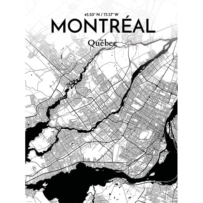 Ourposter montreal city map graphic art print poster in ink montreal city map graphic art print poster in ink gumiabroncs Image collections