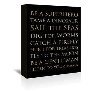 Be A Superhero Textual Art On Wrapped Canvas