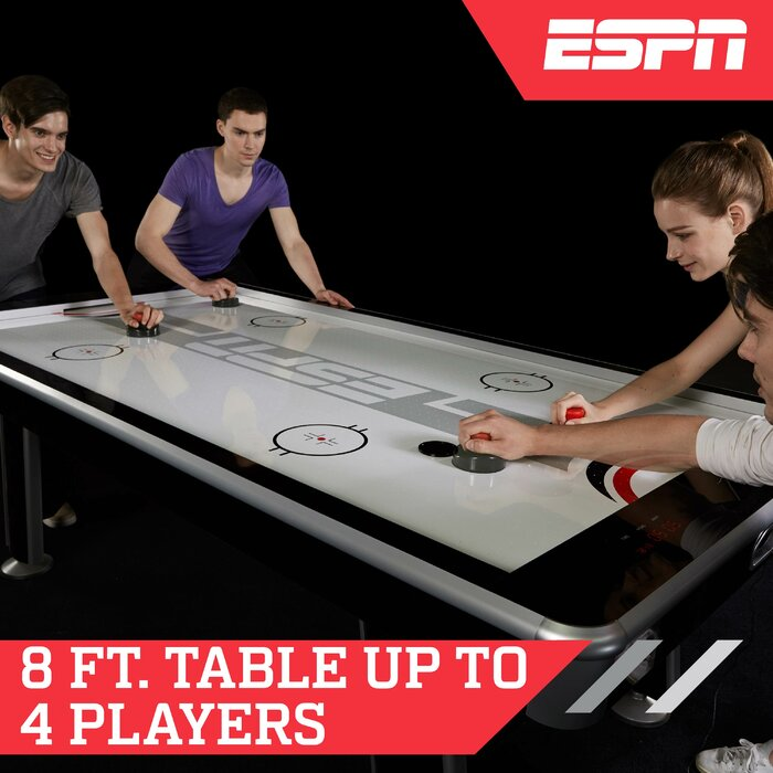 Wondrous 8 Four Player Air Hockey Table Digital Scoreboard And Lights Interior Design Ideas Tzicisoteloinfo