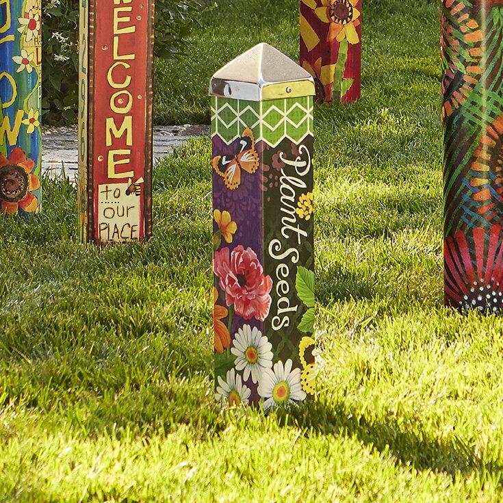 Exciting Garden Art Pole Pictures - Image design house plan - novelas.us