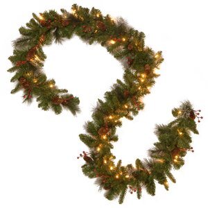 Spruce Pre-Lit Garland with 50 LED Lights