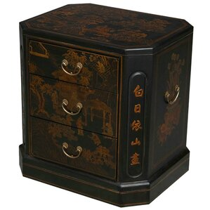 Handmade Oriental Antique End Table by EXP D..