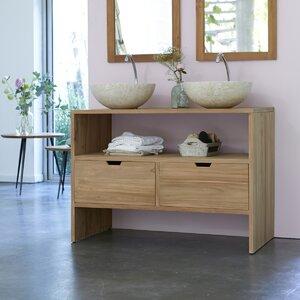 110 cm Wandmontierter Waschbeckenunterschrank Le..