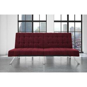 Littrell Velvet Convertible Sofa by Wade Logan