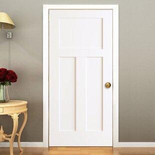 Interior doors youll love wayfair 3 panels shaker solid wood panelled slab interior door planetlyrics Images