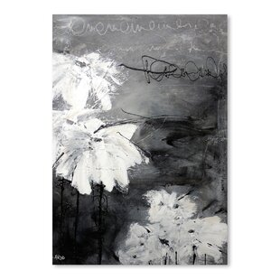 White flower painting wayfair white little flowers painting print mightylinksfo
