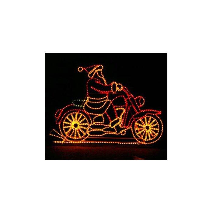 The holiday aisle animated motorcycle santa rope light reviews animated motorcycle santa rope light aloadofball Images
