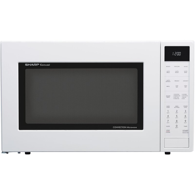 "Sharp 25"" 1.5 cu.ft. Countertop Microwave  Color: White"