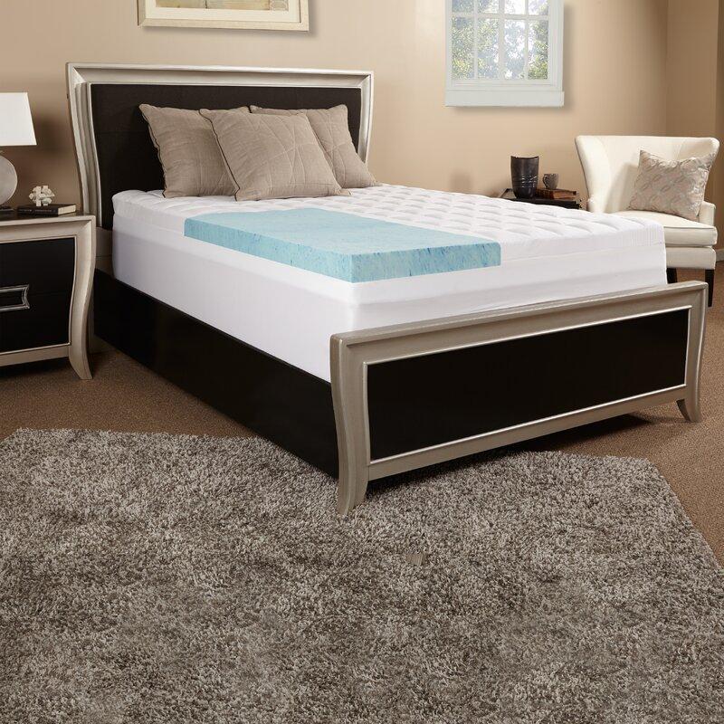 Luxury Solutions 5 5 Quot Gel Memory Foam Mattress Topper
