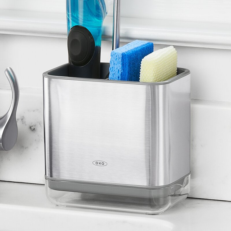 Oxo Good Grips Stainless Steel Sink Caddy Amp Reviews Wayfair