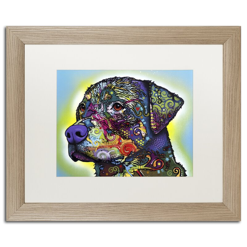 1a6fdb127afb Trademark Art 'The Rottweiler' Framed Painting Print on Canvas | Wayfair