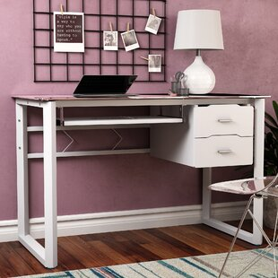 Beau Durable Tempered Glass Desk | Wayfair