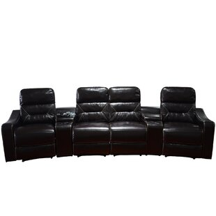 Leather Home Theater Recliner Row Of 4