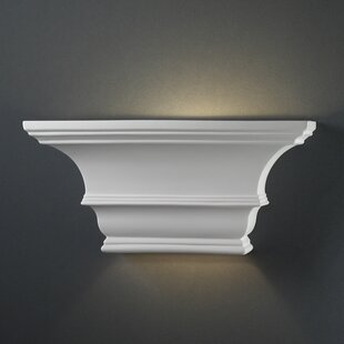 Flush mount lighting youll love wayfair hill rectangular concave 1 light wall sconce mozeypictures Images