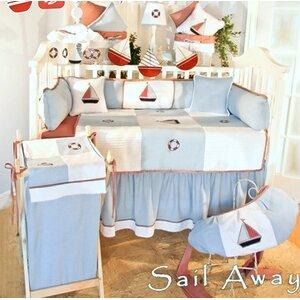 Sail Away 4 Piece Crib Bedding Set