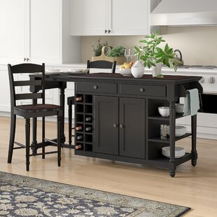 Kidd 3 Piece Kitchen Island Set