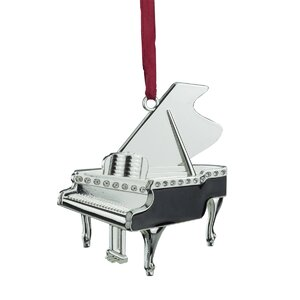Regal Grand Piano Ornament with European Crystal