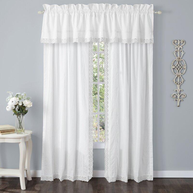 Annabella Solid Sheer Rod Pocket Curtain Panels & Reviews