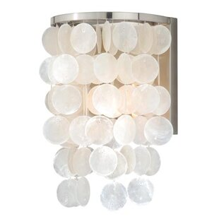 Metal capiz shell lighting wayfair kym capiz shell wall light mozeypictures