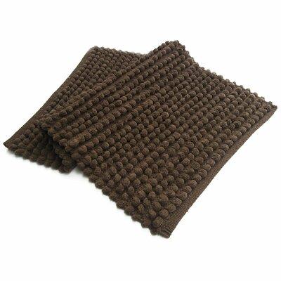 Benzara Pebbles Plush Bath Rug Color: Brown