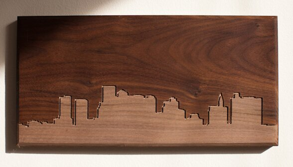 Dave Marcoullier Wood Routings City Skylines Solid Walnut Boston ...